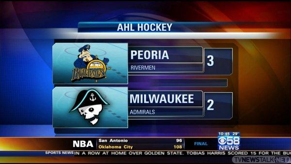 Sports Scoreboard w/Ticker